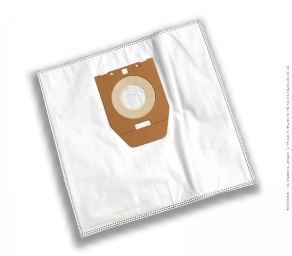 Staubsaugerbeutel 10 x Staubbeutel geeignet für Philips TC 411,412,415,430,432,511,513,516,516,531,533 Bild: 1