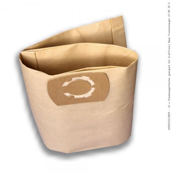 Staubsaugerbeutel geeignet für Kraftronic Nass Trockensauger KT-NT 30 S Bild: 1