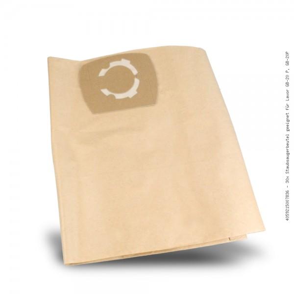 Staubsaugerbeutel geeignet für Lavor GB-20 P, GB-20P Bild: 1