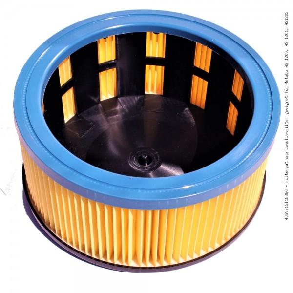 Filterpatrone Lamellenfilter geeignet für Metabo AS 1200, AS 1201, AS1202